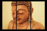 Obraz Budha ze dřeva