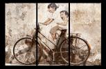 Obraz Děti na kole
