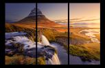 Obraz Hora a vodopád