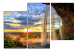Obraz Vodopád a západ slunce