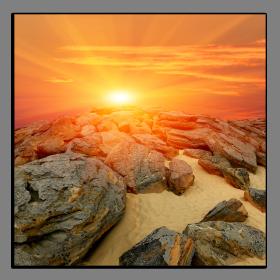 Obrazy západ slunce 2170